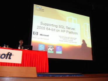 Präsentation des SQL Server 2005 64Bit auf HP Hardware - Tech.Ed SEA 2006 - HP