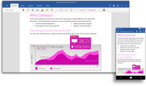 New Office apps on Windows 10 deliver universal touch and mobile-first experience across devices