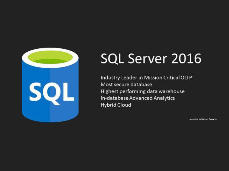SQL Server 2016 GA Release