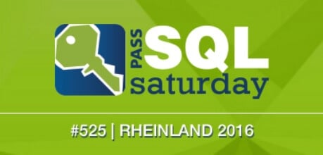 SQLSaturday #525 Rheinland 2016