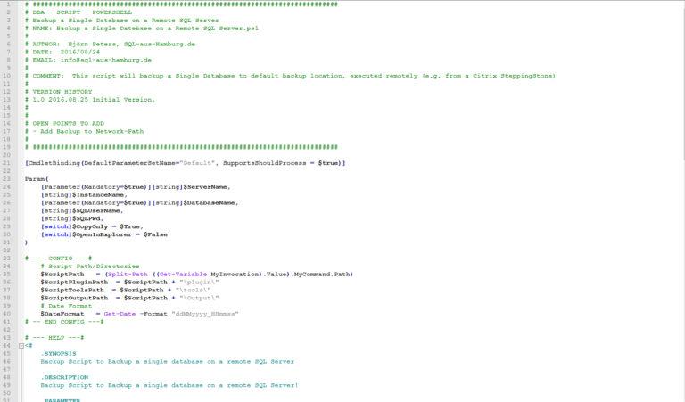 Powershell First Backup Skript