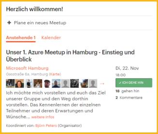 Azure Meetup Hamburg - erstes Treffen