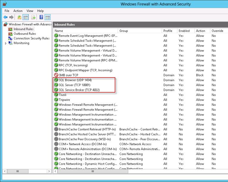 Windows Firewall Ports öffnen für den SQL Server