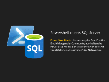 Power Save Mode - Powershell meets SQL Server