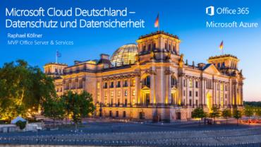 Slide Header Azure Datenschutz rechtliche Aspekte - Raphael Köllner