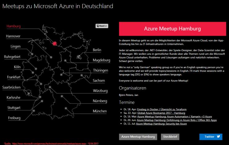 Meetups zu Microsoft Azure in Deutschland