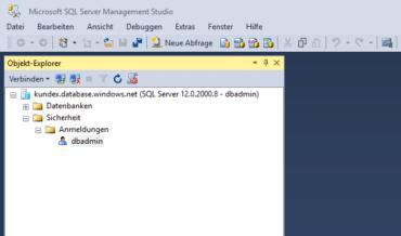Beispielzugriff - SSMS auf Azure SQL Database