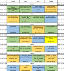 SQLGrillen 2017 Agenda