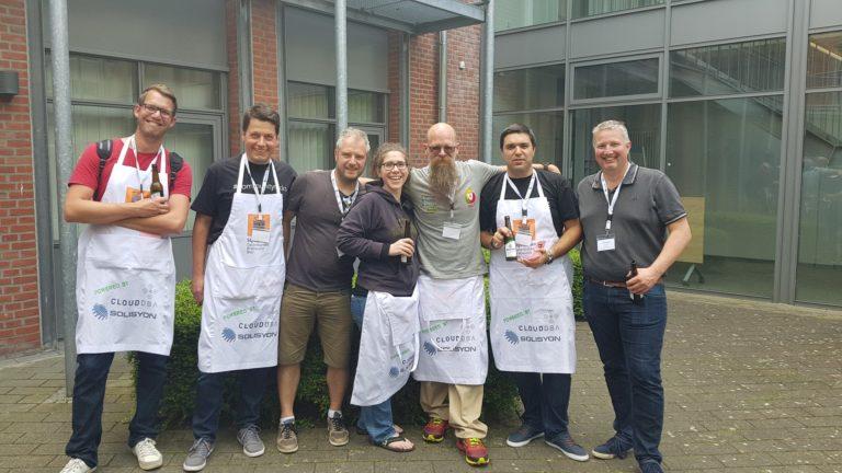 Twitter RobSewell dbatools Contributors at SQLGrillen 2017