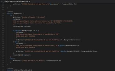 Configure SQL Server after Installation - SetMaxDOP
