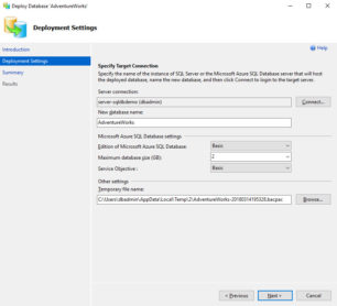 Azure SQL Database Migration via SSMS - Bild 2