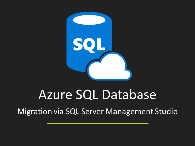 Azure SQL Database Migration via SSMS - Feature Image