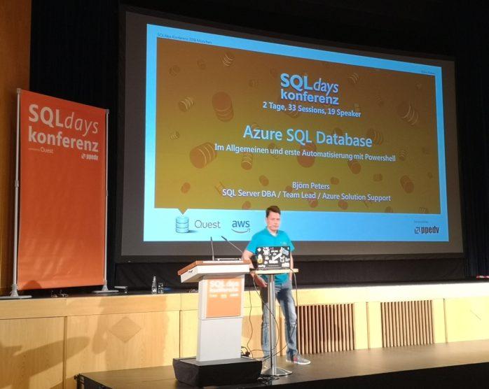 Bjoern Peters - Azure SQL Database - SQLDays 2018