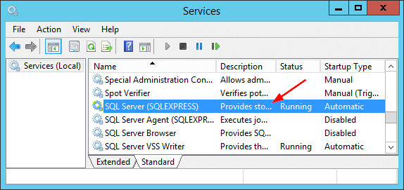Overview SQLServer Services GUI
