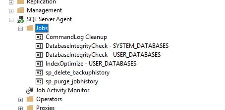 Managed Instance - Housekeeping - Ola Hallengren - SQL Server Agent Jobs