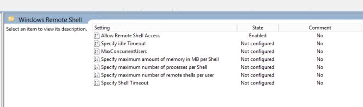 DSC - GPO - gpedit - Windows Remote Shell
