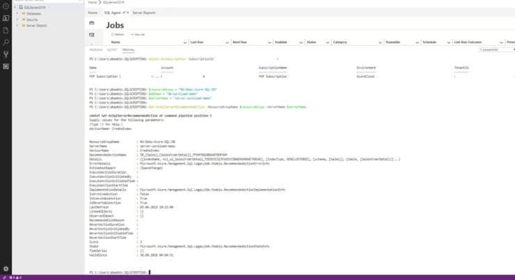 Azure Data Studio - Powershell Console