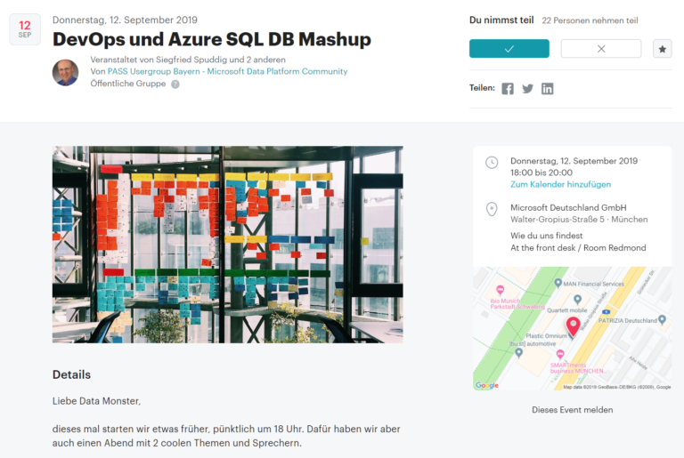 Pass Meetup - München - September 2019 - AzureSQLDB - Mashup