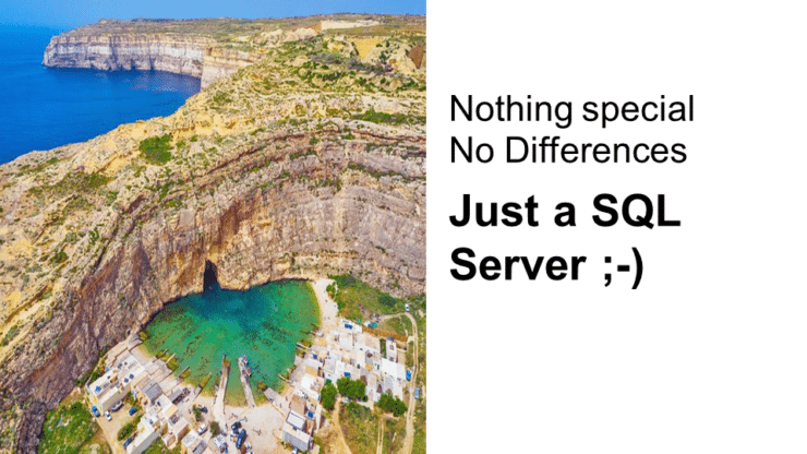 It is just a SQLServer - dont be afraid of moving you databases into Azure