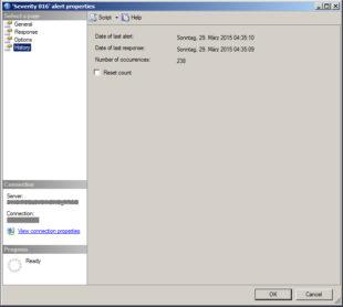SQL Server Alert History